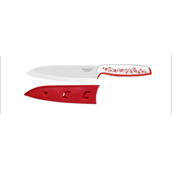 Нож поварской керамический 27 см, цвет МИКС
