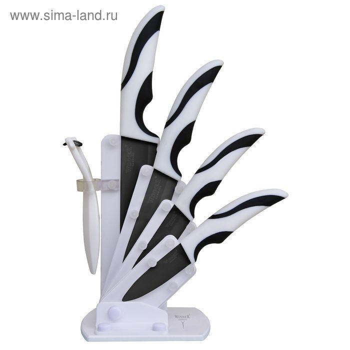Набор керамических ножей, 6 пр: поварской 28см, универсальный 23см, д/очистки 17см, картофелечистка,