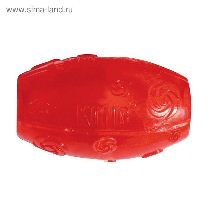 """Мячик Kong  """"Сквиз""""  для собак, регби, средний, 5 х 10 см"""