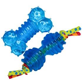Набор игрушек Petstages ORKA «Косточка + гантель» для собак мелких пород