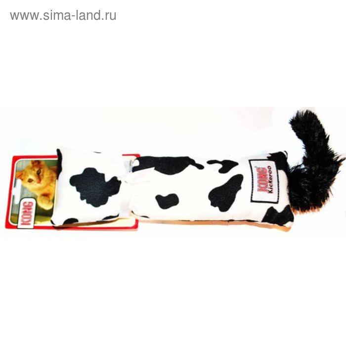 """Игрушка Kong  """"Кикеру"""" для кошек, буренка цвета МИКС, с кошачьей мятой,  29 х 7 см"""