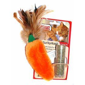 """Игрушка Kong  """"Морковь""""с кошачьей мятой для кошек, плюш"""