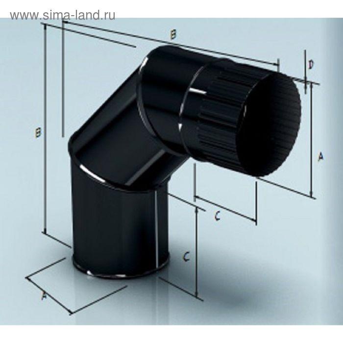 Колено Agni угол 90°, эмалированное, 0,8, d-140 мм