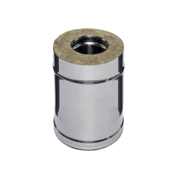 Дымоход Феррум утепленный нержавеющий 430/0,5мм, зеркальный нержавеющий d 150/210 мм, L=0,25м, по во