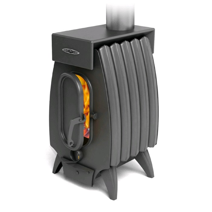 Печь отопительно-варочная Термофор Огонь-батарея 5 Лайт, дровяная, антрацит