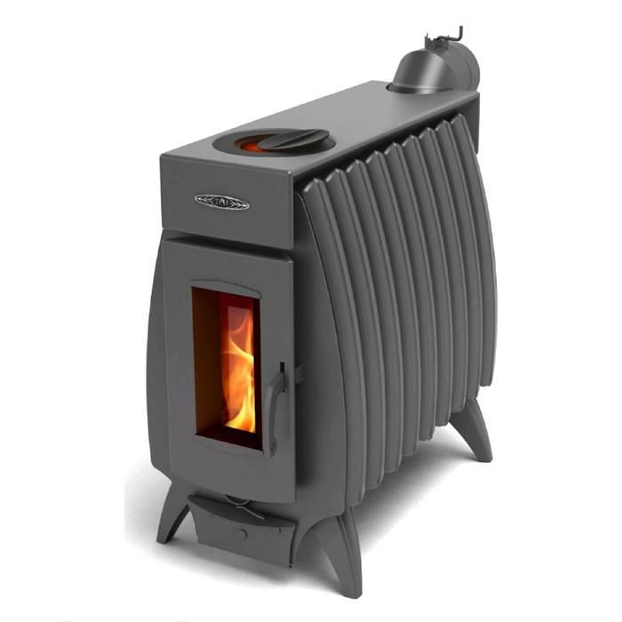 Печь отопительно-варочная Термофор Огонь-батарея 9, дровяная, антрацит