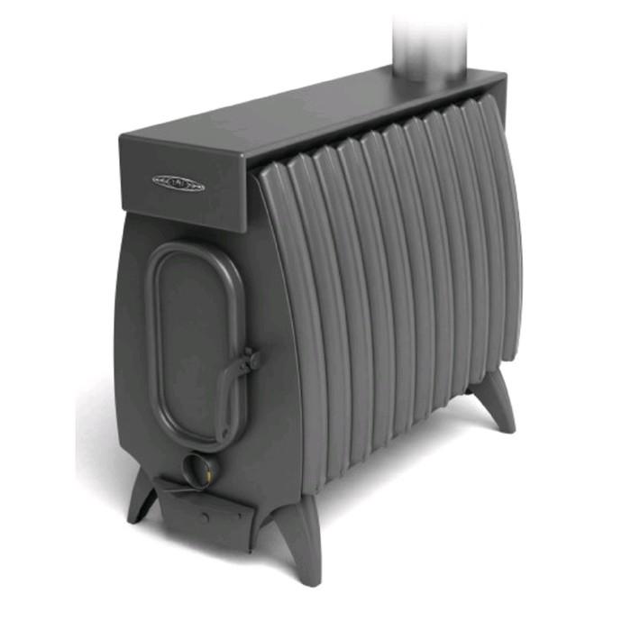 Печь отопительно-варочная ТМФ Огонь-батарея 11Б Лайт, дровяная, бак, антрацит