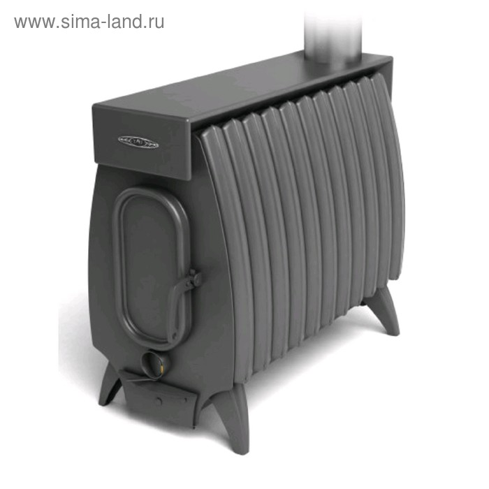 Печь отопительно-варочная Термофор Огонь-батарея 11Б Лайт, дровяная, бак, антрацит