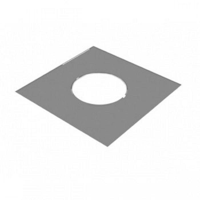 Разделка Феррум потолочная декоративная нерж. 430/0,5 мм, 500*500, с отверстием d 280, в пленке   16
