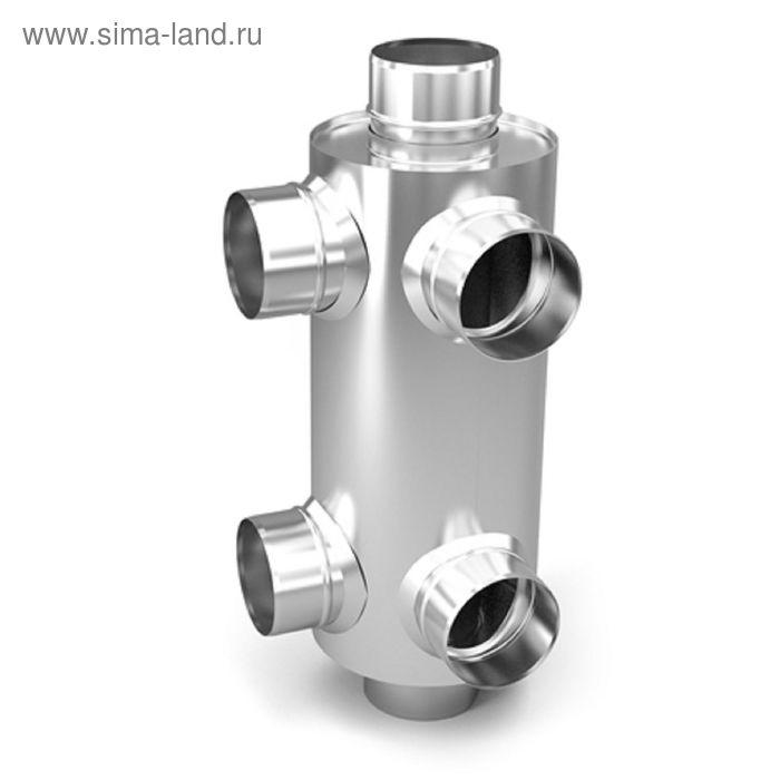 Дымоход-конвектор-2 Термофор, для смежных помещений 1/0,5 мм, d 115 мм, L=0.65 м