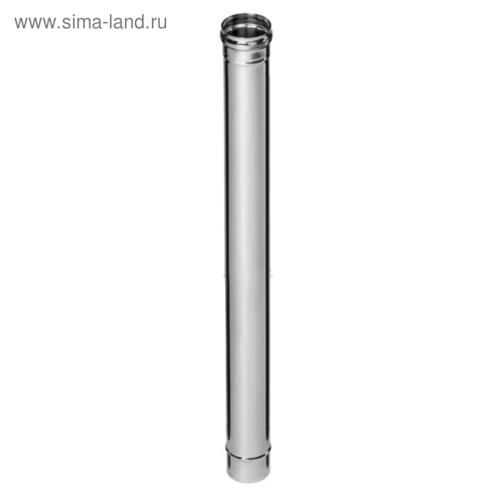 Дымоход Феррум нержавеющий 439/0,8 мм, d 120, L=1,0 м