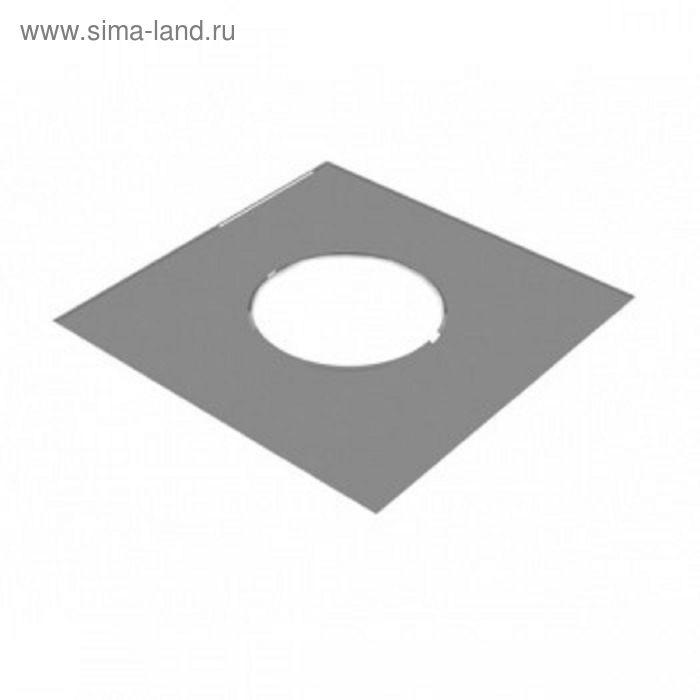 Разделка Феррум потолочная нержавеющая 430/0,5 мм, 500*500, с отверстием d 200 мм, в пленке   165599