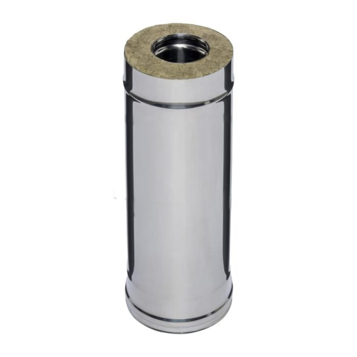 Дымоход Феррум утепленный нержавеющий 430/0,5мм, оцинкованный d 115/200 мм, L=0,5м, по воде   165610