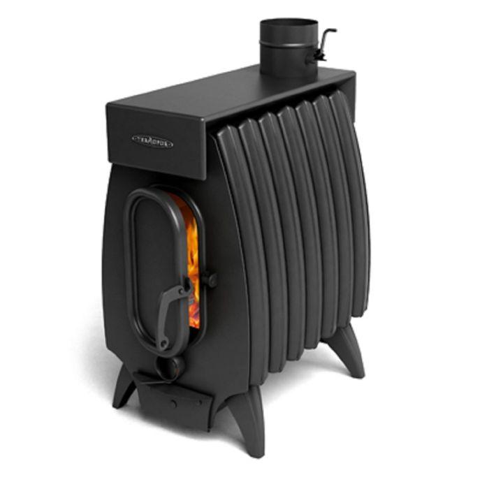Печь отопительно-варочная Термофор Огонь-батарея 7Б Лайт с баком, дровяная, антрацит