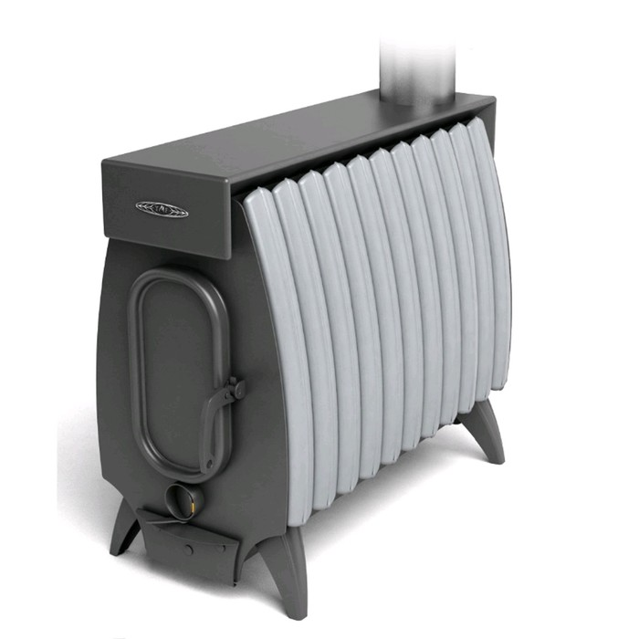 Печь отопительно-варочная Термофор Огонь-батарея 11 Лайт, дровяная, антрацит