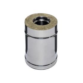 Дымоход Феррум утепленный нержавеющий 430/0,5 мм, зеркальный нержавеющий d 120/200, L=0,25 м, по вод
