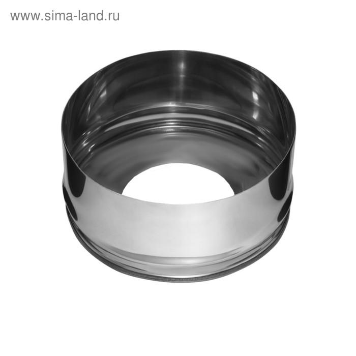 Заглушка Феррум с отверстием, нержавеющая 430/0,5мм, d 120/200