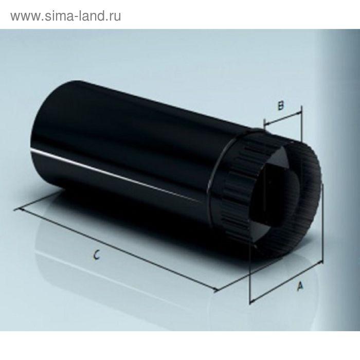 Дымоход Agni утепленный эмалированный, 0,8, d-115/200 мм, L=1м, по воде