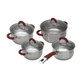 Набор посуды TalleR 4 предмета: Ковш с крышкой 1,5 л, Кастрюля с крышкой 2,2 л, Кастрюля с крышкой 3