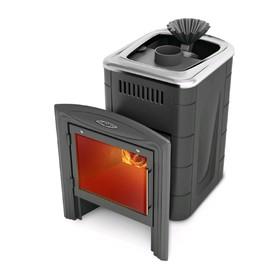 Печь для бани Термофор Гейзер Мини 2016 Carbon, закрытая каменка, антрацит