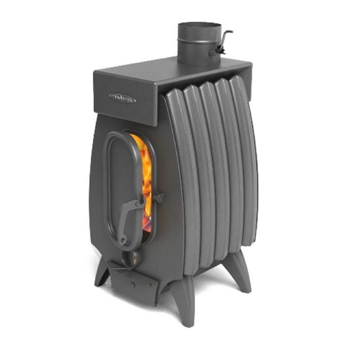 Печь отопительно-варочная Термофор Огонь-батарея 5Б Лайт с баком, дровяная, антрацит