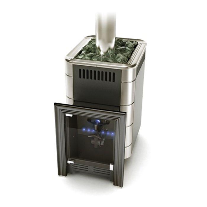 Печь для бани газовая Термофор Уренгой-2 Inox, антрацит, без газо-горелочного устройства