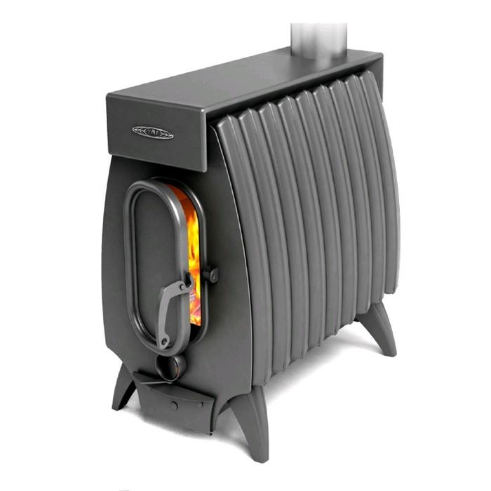 Печь отопительно-варочная ТМФ Огонь-батарея 9 Лайт, дровяная, антрацит