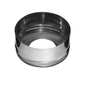 Заглушка Феррум с отверстием, нержавеющая 430/0,5мм, d 150/210 мм