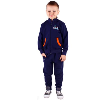 """Куртка для мальчика """"Дино"""", рост 116 см (60), цвет синий (арт. ПДД480258_Д)"""