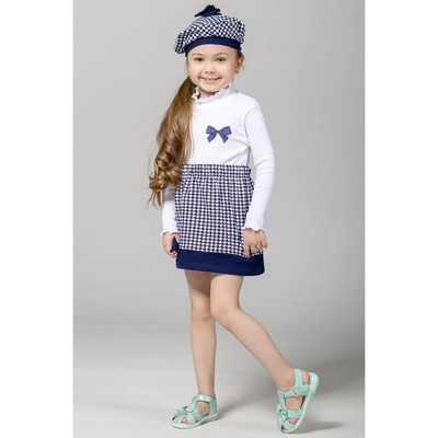 """Джемпер для девочки """"Высокий стиль"""", рост 86 см (48), цвет белый (арт. ДДД421023_М)"""