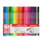 Набор ручек каппилярных, 24 цвета, тонкая линия 0,4 мм