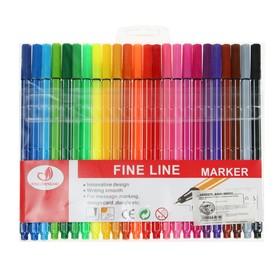 Набор капиллярных ручек, 0.4 мм, 24 цвета, тонкая линия