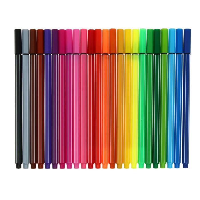 Набор каппилярных ручек, 0.4 мм, 24 цвета, тонкая линия