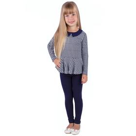 """Джемпер для девочки """"Высокий стиль"""", рост 110 см (56), принт гусиная лапка (арт. ДДД326067н_Д)"""