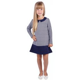 """Платье для девочки """"Высокий стиль"""", рост 86 см (48), принт гусиная лапка (арт. ДПД328258н_М)"""