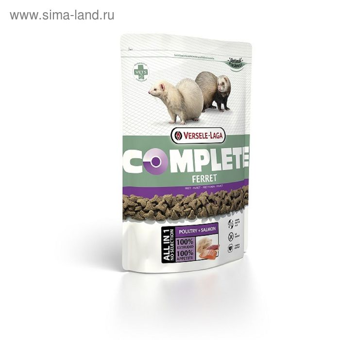 Корм VERSELE-LAGA Complete Ferret для хорьков, 750 г