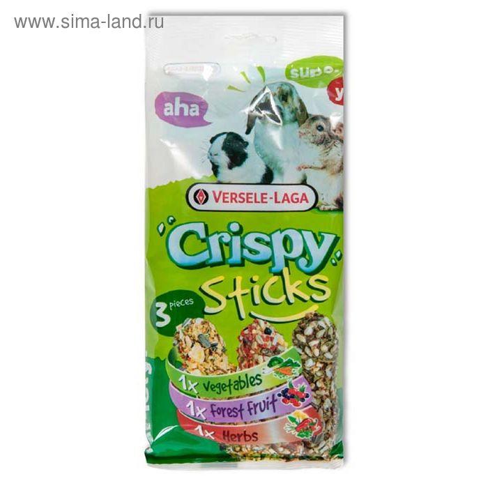 Палочки VERSELE-LAGA Crispy для травоядных грызунов микс с овощами, ягодами и травами 2х55 г, 1х50г