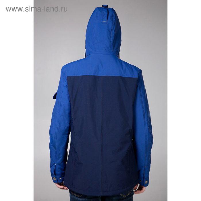 Куртка мужская демисезонная, размер 54, цвет синий/тёмно-синий DG 102-100