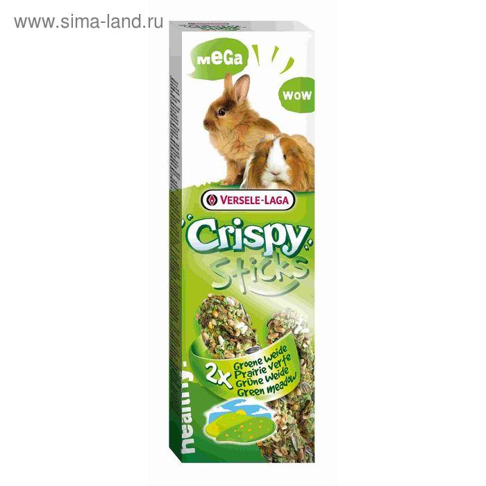 """Палочки VERSELE-LAGA  Crispy МЕГА """"Зеленый луг"""" для кроликов и морских свинок, 2х70 г"""