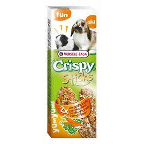 Палочки VERSELE-LAGA Crispy для кроликов и морских свинок, с морковью и петрушкой, 2х55 г