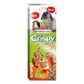 Палочки VERSELE-LAGA Crispy для кроликов и морских свинок, с фруктами, 2х55 г