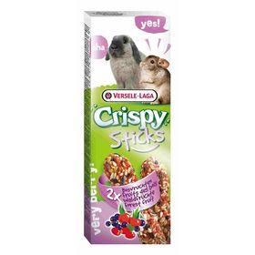 Палочки VERSELE-LAGA Crispy для кроликов и шиншилл, с лесными ягодами, 2х55 г