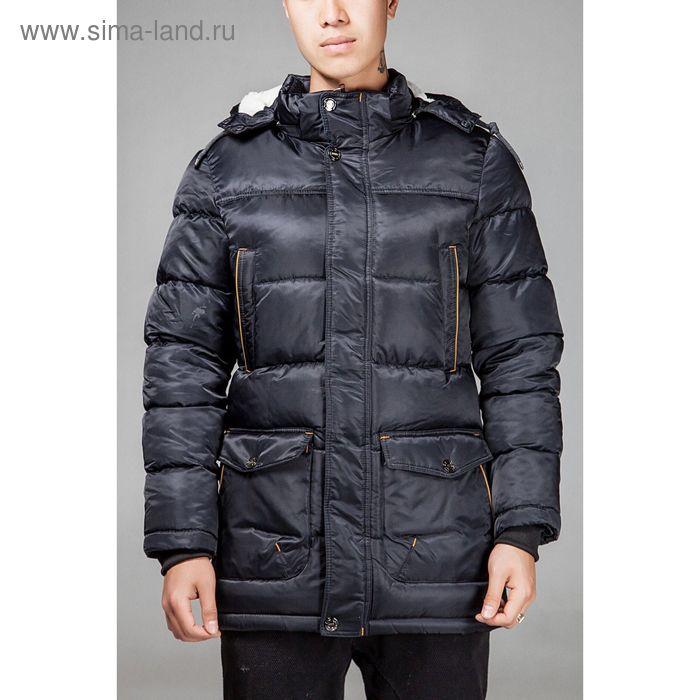 Куртка мужская зимняя, размер 46, цвет чёрный В55-350