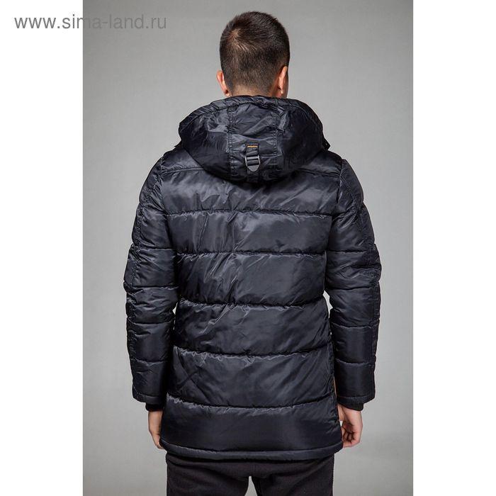 Куртка мужская зимняя, размер 52, цвет чёрный В55-350
