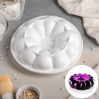 """Форма для выпечки и муссовых десертов 21х7 см """"Цветок"""", цвет белый"""