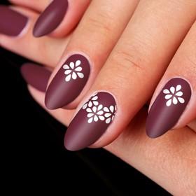 Трафареты для ногтей «Узор», 10 шт на подложке