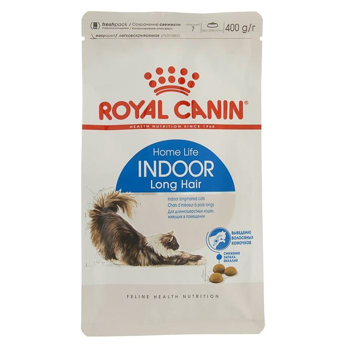 Сухой корм RC Indoor Long Hair для домашних длинношерстных кошек, 400 г