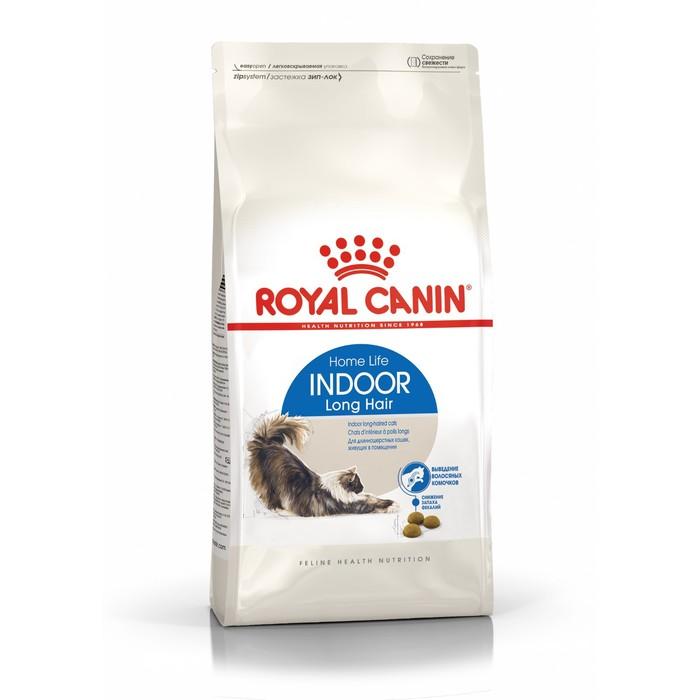 Сухой корм RC Indoor Long Hair для домашних длинношерстных кошек, 2 кг