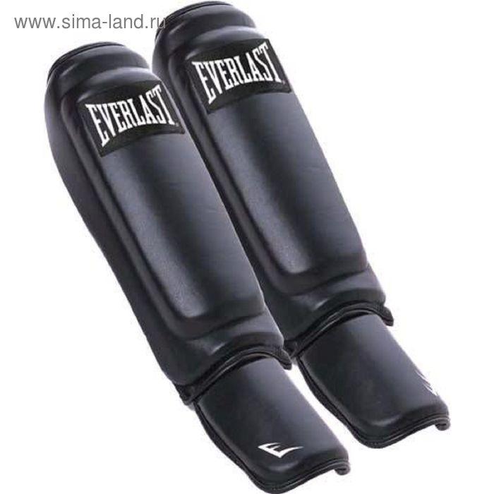 Защита голени и стопы Everlast  Martial Arts Leather Shin-Instep L/XL черн.