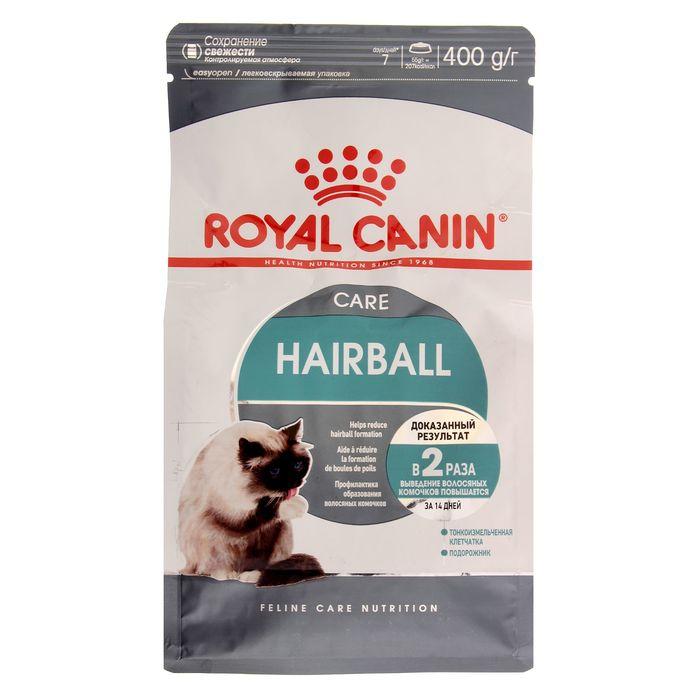 Сухой корм RC Hairball Care для кошек, для выведения комочком шерсти, 400 г